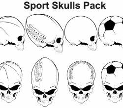 Free Vector Sports Skulls Pack