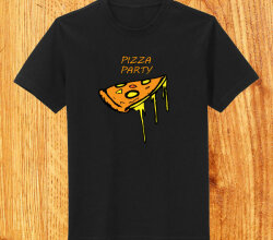 Vector Funky Pizza T-shirt Design