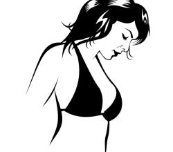 Beautiful Bikini Girl Vector Image