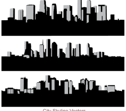 City Skyline Free Vector Art