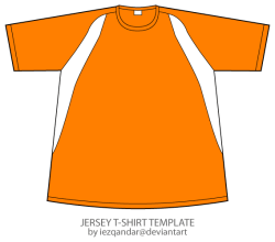 Jersey T-shirt Template