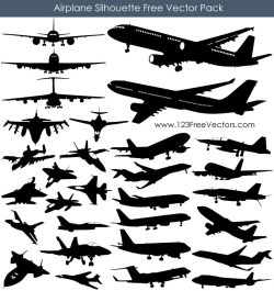 Airplane Silhouette Free Vector Pack