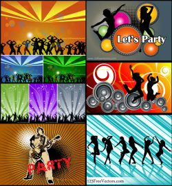 Dance Party Background Free Vector Pack