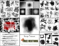 Free Vector Grunge Texture Illustrator Pack