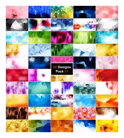 50 Abstract Vector Polygonal Background Collection Pack 21