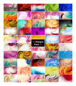50 Abstract Swirl Background Designs Vector Pack 02