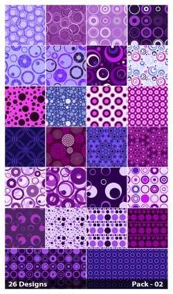 26 Purple Circle Pattern Vector Pack 02
