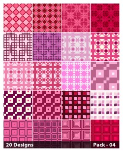 20 Pink Square Pattern Background Vector Pack 04