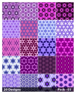 20 Purple Star Pattern Background Vector Pack 03