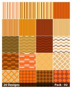 20 Orange Stripes Pattern Vector Pack 02