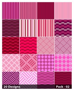 20 Pink Stripes Pattern Vector Pack 02