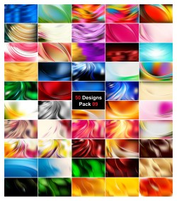 50 Curve Background Vector Pack 09