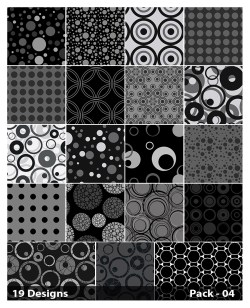 19 Black Circle Background Pattern Vector Pack 04