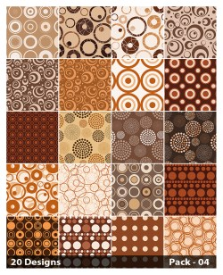 20 Brown Circle Background Pattern Vector Pack 04