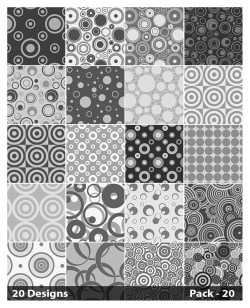 20 Grey Circle Pattern Background Vector Pack 20