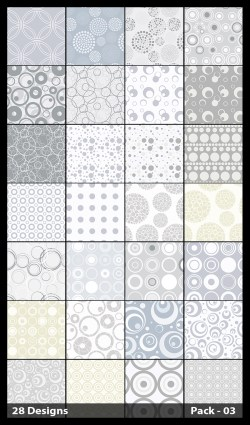 28 White Circle Pattern Background Vector Pack 03