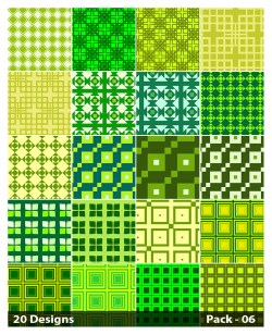 20 Green Seamless Square Background Pattern Vector Pack 06