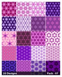 20 Purple Star Pattern Vector Pack 07