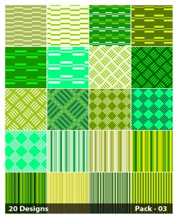 20 Green Stripes Pattern Background Vector Pack 03