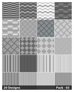 20 Grey Stripes Pattern Background Vector Pack 03