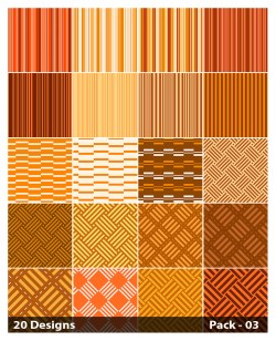 20 Orange Stripes Pattern Background Vector Pack 03