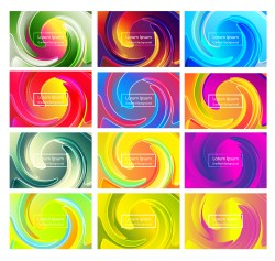 12 Abstract Modern Liquid Color Background Vector Pack