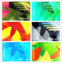 6 Abstract Fluid Color Geometric Background Vector Pack