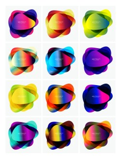 12 Abstract Liquid Shapes Vector Pack