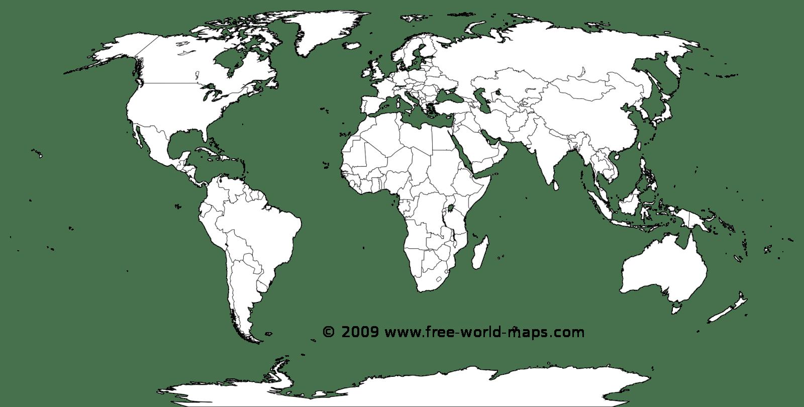 Blank World Maps Afp Cv
