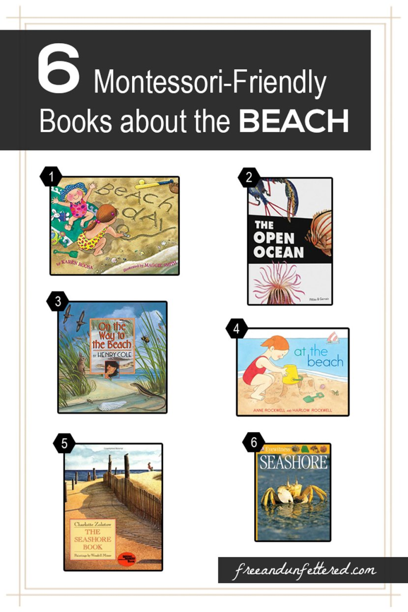 6 Montessori-Friendly Books about the Ocean and Seashore for Kids. Wonderful to read before traveling to the beach this summer!