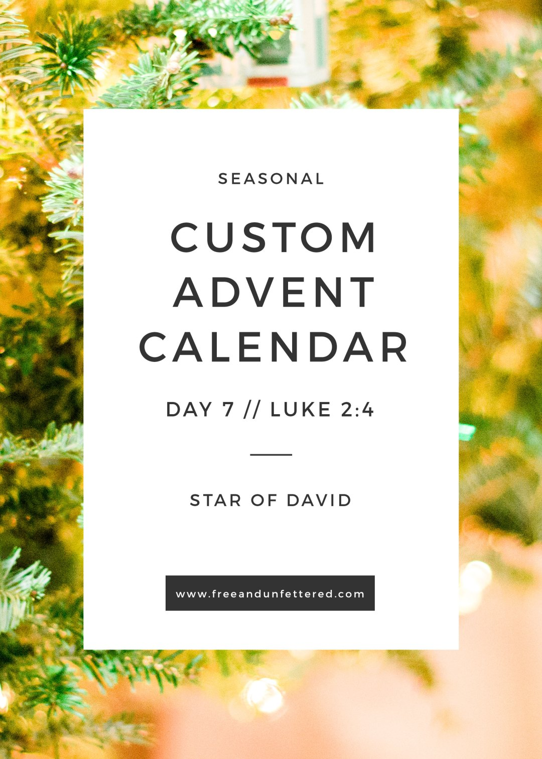 A Yarn-Wrapped Star of David Ornament for Day 7 of Advent