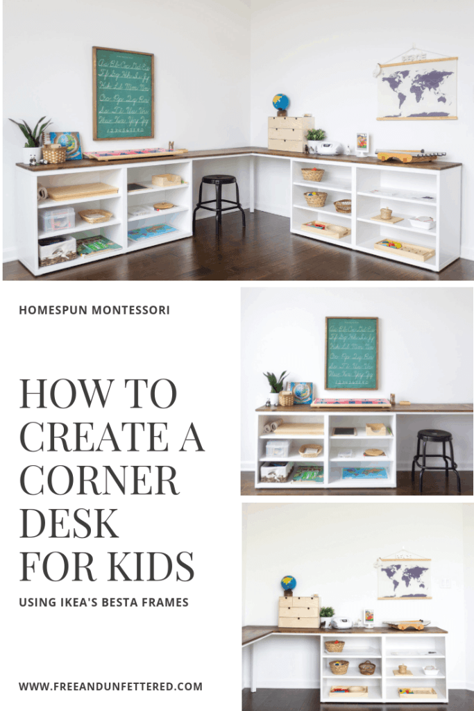 IKEA HACK: Create a Corner Desktop for Kids Using Besta Shelves