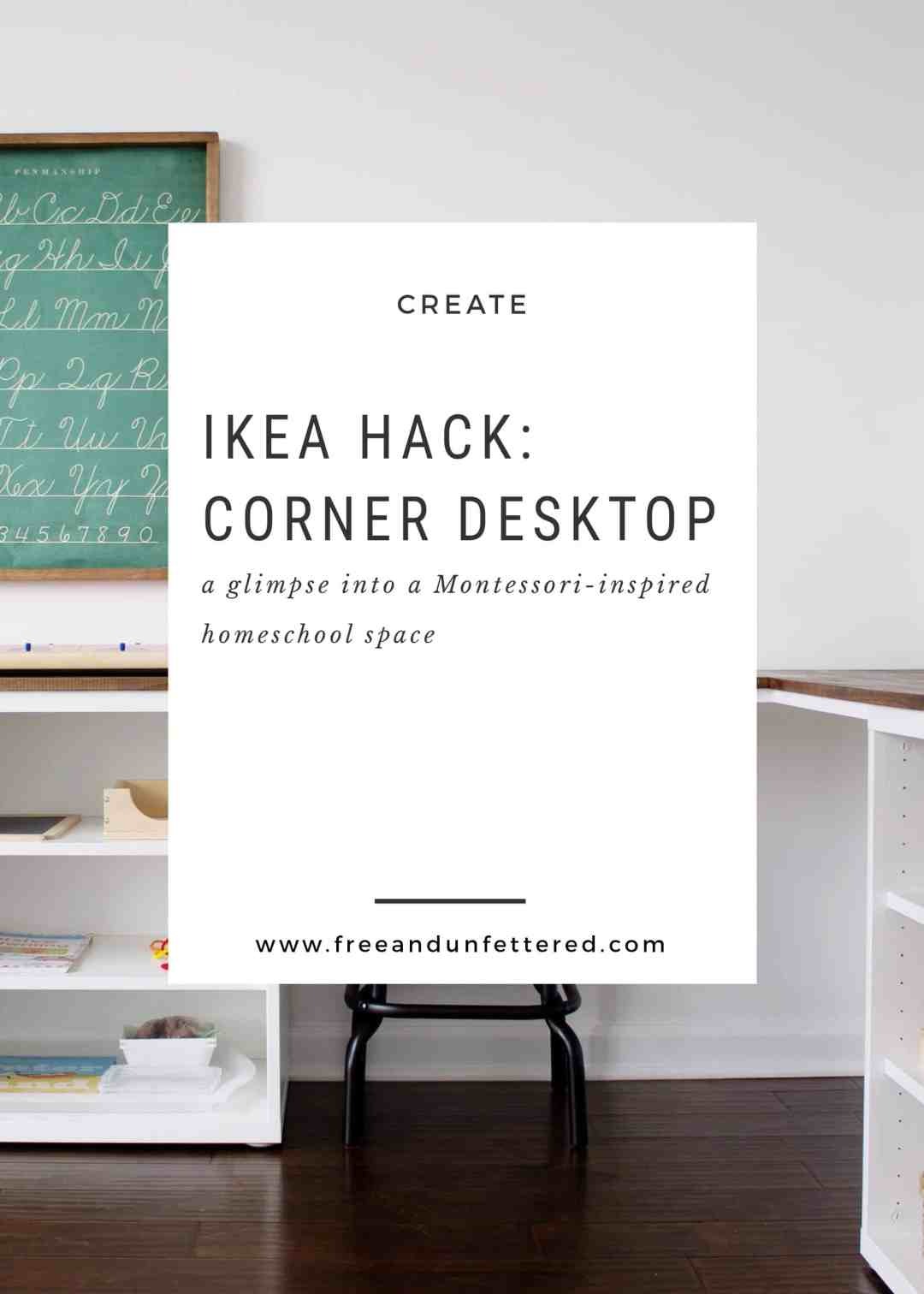 create a corner desk using IKEA Besta frames