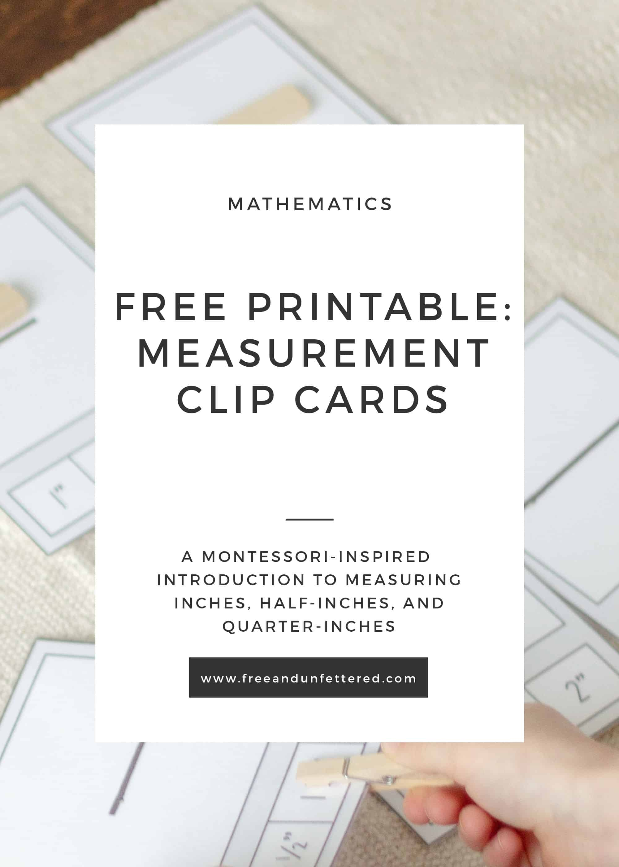 photo regarding Printable Measurement identified as Totally free Printable: Dimensions Clip Playing cards for Little ones