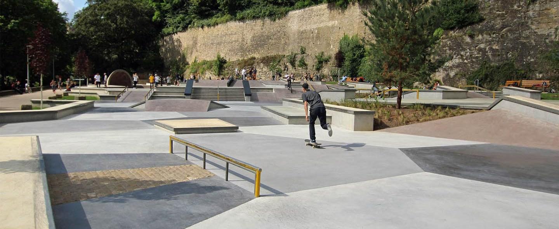 Péitruss Skatepark, Luxembourg.