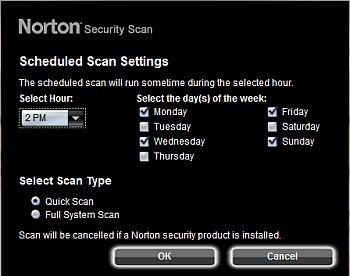 norton scheduler