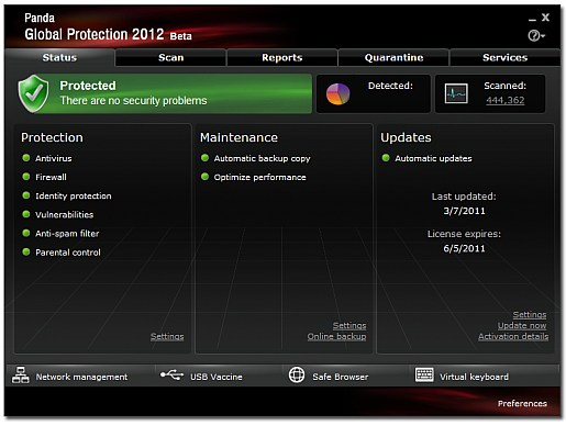 global protection 2012 beta