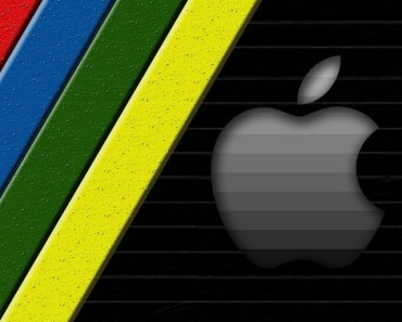 Apple Logo with Colorful Lines