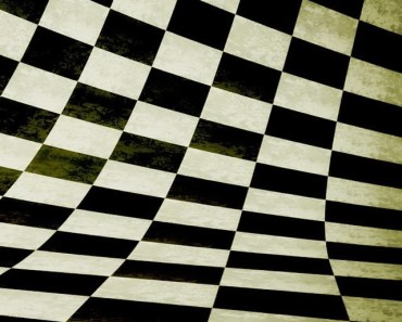 3D Black and White Chessboard