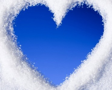 Blue Love Heart Of Snow