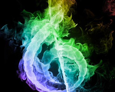 Colorful Musical Note of Smoke