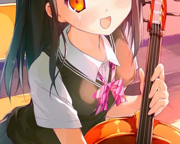 Cute Anime Girl with Violin