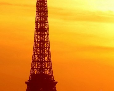 Eiffel Tower Bathed In The Morning Sun