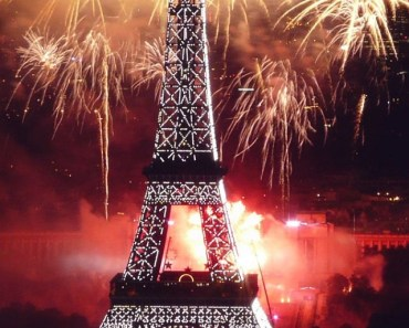 Eiffel Tower and Fireworks