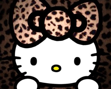 Leopard Pattern Hello Kitty