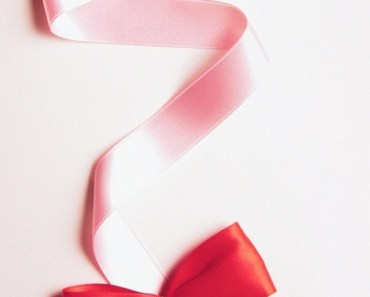 Red Bow with Pink Ribbons