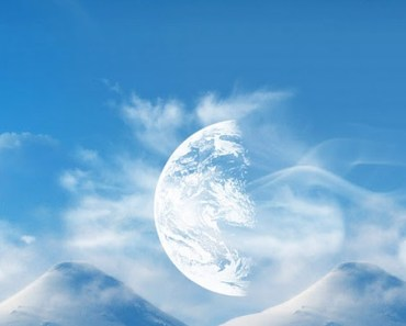 Snow Mountain and Moon