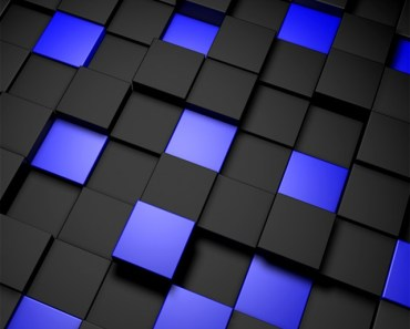 3D Dark and Blue Cubes