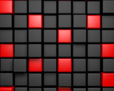3D Red and Dark Cubes