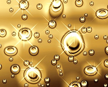 Bright Shining Golden Water Drops